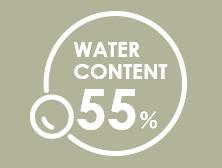 weter content55%